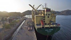 AAL Kobe - Discharging Pipe Racks in Guanta