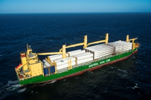 AAL Melbourne - Wind Blades and Towers from Shanghai to Saldanha Bay