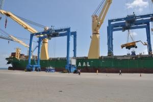 AAL Newcastle - Discharging RTGs in Damietta