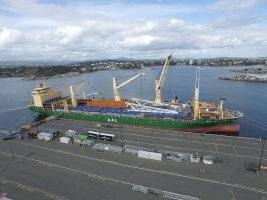 AAL Singapore - Discharging Bridge Leaf, OCD Panels and Accessories at Ogden Point, Victoria BC