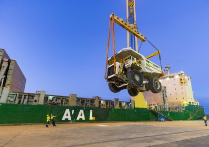 AAL Dampier - Loading of Trucks at Bunbury Port