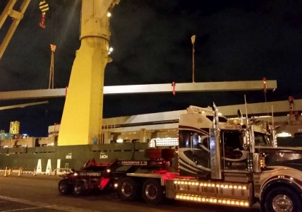 AAL Hongkong - Discharging Structural Steel in Melbourne